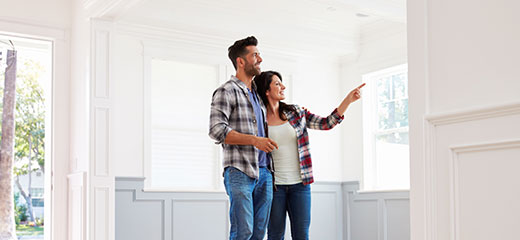 Couple viewing potential new home