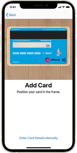 Add Bank First card via Apple Pay